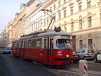 Tram in Vienna.  Picture: Chris Wood.